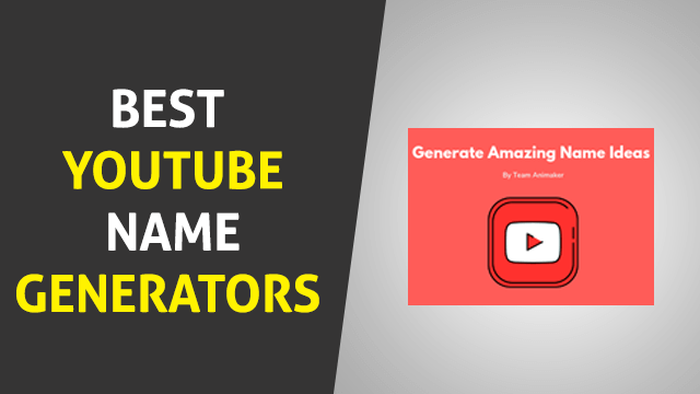 Best YouTube Name Generators